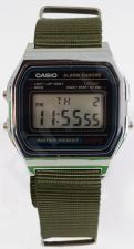 Laikrodis CASIO   A158W NATO KHAKI ARMY Timer.  . wr 31