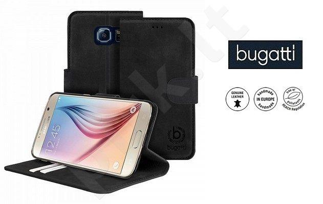 Samsung Galaxy S6 dėklas book MADRID Bugatti juodas