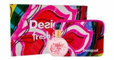 Desigual Bloom, Fresh, rinkinys tualetinis vanduo moterims, (EDT 100 ml + kosmetika krepšys)