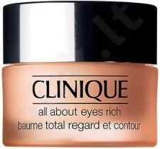 Clinique All About Eyes, Rich, paakių kremas moterims, 15ml