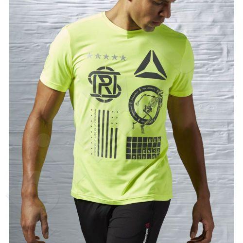 Marškinėliai bėgimui  Reebok ONE Series Running Short Sleeve M AJ0451