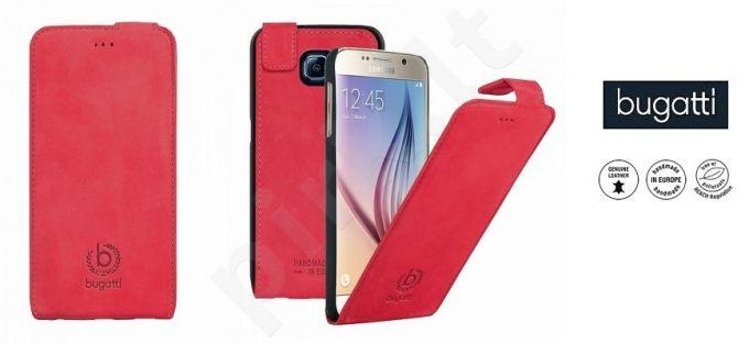 Samsung Galaxy S6 dėklas flip MADRID Bugatti raudonas
