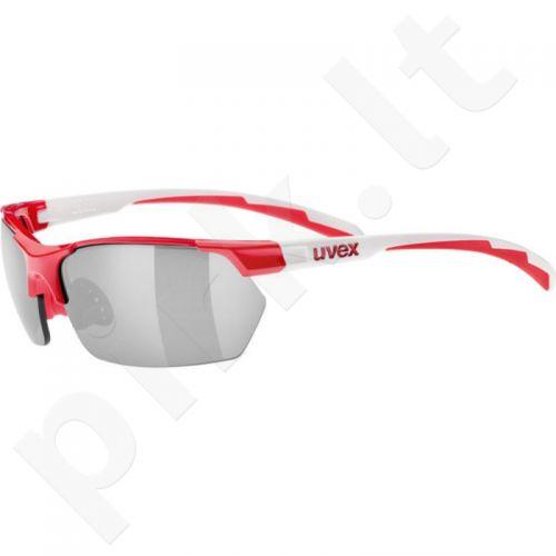 Akiniai Uvex Sportstyle 114 raudona-baltas