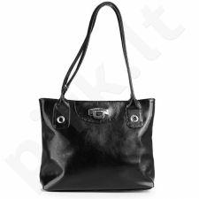 DAN-A T237A juoda rankinė iš natūralios odos , moteriška