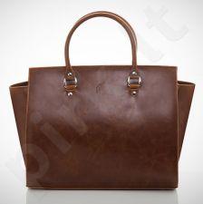 Felice Lindo M03 - eko odos  tamsiai ruda elegantiška rankinė, moterims