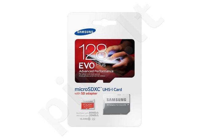 Samsung memory card EVO+ microSDXC 128GB Class 10 UHS-I Read:Write (80/20MB/s)