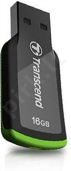Atmintukas Transcend Capless JF360 16GB, Juodai žalias