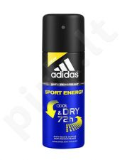 Adidas Sport Energy Cool & Dry 72h, antiperspirantas vyrams, 150ml