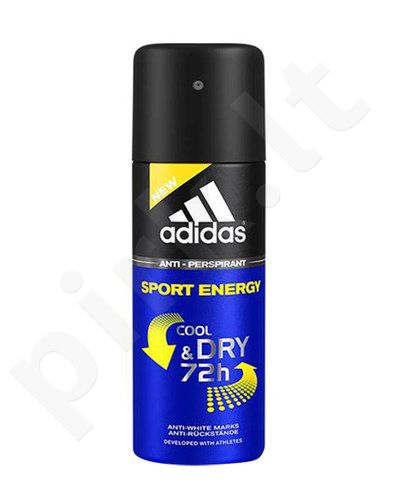 Adidas Sport Energy Cool & Dry 72h, antiperspirantas vyrams, 150ml