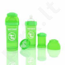 Twistshake - Anti-Colic Green 260ml- Buteliukų rinkinys