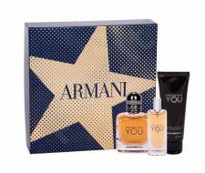 Giorgio Armani Stronger With You, Emporio Armani, rinkinys tualetinis vanduo vyrams, (EDT 50 ml + dušo želė 75 ml + EDT 15 ml)