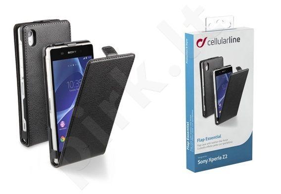 Sony Xperia Z2 dėklas FLAP ESSEN Cellular juodas