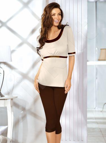Babella pižama KATI (šokolado/kreminės spalvos)