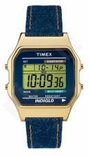 Laikrodis TIMEX T80 CLASSIC TW2P77000 - TEXTIL - PLASTIC - PLASTIC - INDIGLO - - DAY - STOP - CALENDAR - TIMER - 34mm - 30 METERS TW2P77000