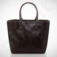 Felice Bello M04 - eko odos   tamsiai ruda elegantiška rankinė, moterims
