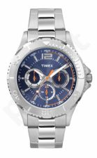 Laikrodis TIMEX MAIN STREET TW2P87600 - STAINLESS STEEL - MINERAL GLASS - INDIGLO - DAY - - 50 METERS TW2P87600