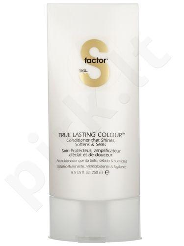 Plaukų spalvą saugantis ir spindesio suteikiantis kondicionierius Tigi S Factor True Lasting Colour , 250ml