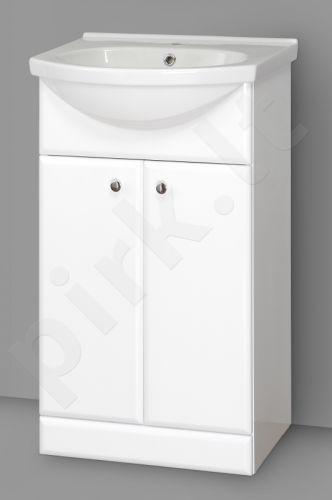Apatinė vonios spintelė SA 50A su praustuvu RIVA 50A