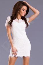 DROLE DE COPINE suknelė - balta 8618-2
