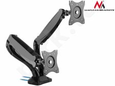 Maclean MC-674 Dual Arm LCD Monitor TV Desk Gas Spring USB 13'' 27'' 6kg