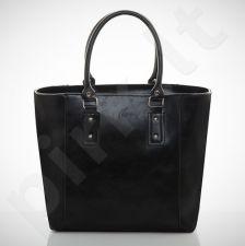 Felice Bello M04 - eko odos   juoda elegantiška rankinė, moterims