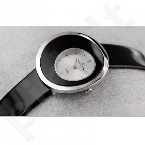 Moteriškas laikrodis RUBICON RNAC78 LS WH BK
