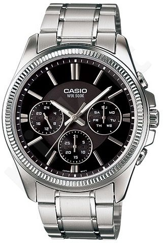 Laikrodis CASIO MTP-1375D-1 chronometras WR 50mt **ORIGINAL BOX**