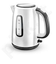 Camry Standard kettle, Stainless steel, White, 2000 W, 360° rotational base, 1.7 L