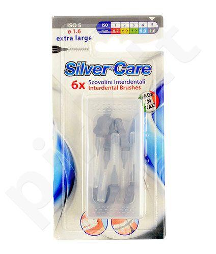 SilverCare tarpdančių šepetėliai ISO 5 Extra didelis, kosmetika moterims ir vyrams, 6ks