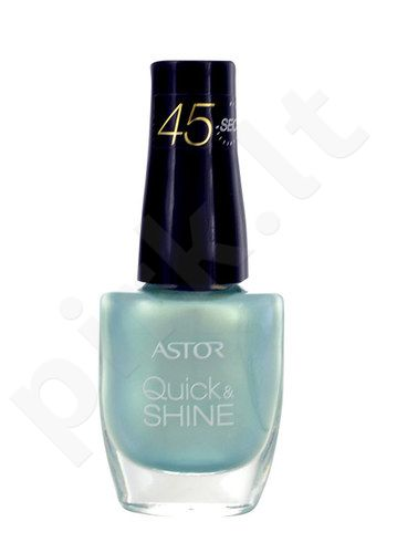 Astor Quick & Shine nagų lakas, kosmetika moterims, 8ml, (602 Lady In Black)