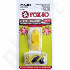 Švilpukas FOX CMG Classic Safety + virvutė 9603-0208 geltonas