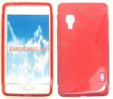 LG L5 II dėklas SILICON Forever raudonas