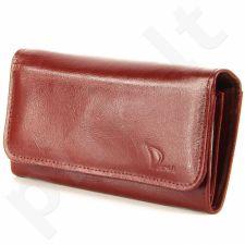 DAN-A P1B odinė piniginė moterims bordinė