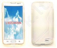 LG L90 dėklas SILICON Forever baltas permatomas