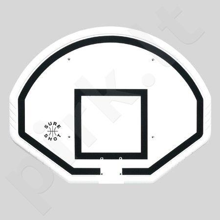 Plastikinė krepšinio lenta Sure Shot, apvali, juoda