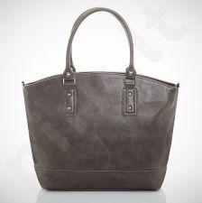 Felice Carino M05 - eko odos  pilka elegantiška rankinė, moterims