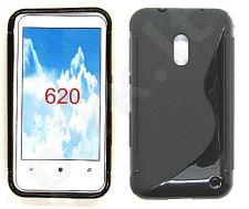 Nokia 620 Lumia dėklas SILICON Forever juodas