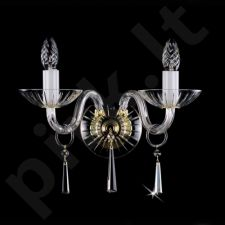 Sieninis šviestuvas krištolo 224-ROSA-II WL firmy ArtGlass