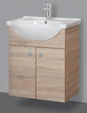 Apatinė pakabinama vonios spintelė SA 60-11 sonoma su praustuvu Riva 60
