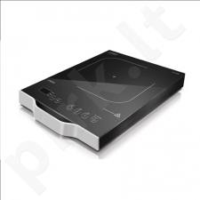 Caso Wave 2100 Single Induction hob, 12 power levels, 12 temperature levels, Timer, 2100W, Aluminium  case colour