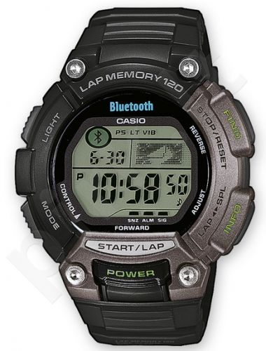 Laikrodis CASIO SPORT Digit BLUETOOTH Super Auto Led. chronometras. 5 s. Snooze.automatinis Calendar. wr **ORIGINAL BOX**
