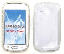 Samsung Galaxy Trend dėklas SILICON Forever baltas permatomas