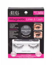 Ardell Wispies, Magnetic Liner & Lash, rinkinys dirbtinės blakstienos moterims, (Magnetic Lashes Wispies 1 pair + Magnetic želė Line 2 g Black + Liner Brush 1 pc), (Black)