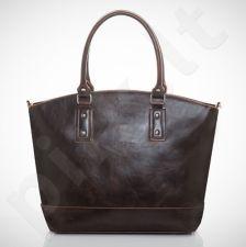 Felice Carino M05 - eko odos   tamsiai ruda elegantiška rankinė, moterims