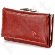 DAN-A P139 raudona odinė piniginė moterims