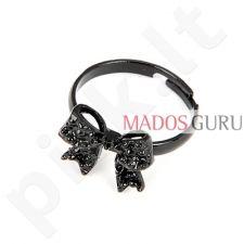 Stilingas juodas žiedas Z384