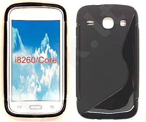 Samsung Galaxy Core dėklas SILICON Forever juodas
