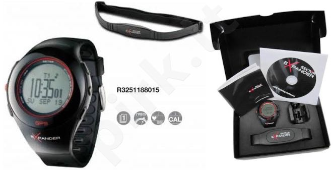 Laikrodis SECTOR     EXPANDER - chronografas GPS - Google Maps Navigator - Heart rate monitor/Cardiofrequenzimetro - USB charge - WR 3atm