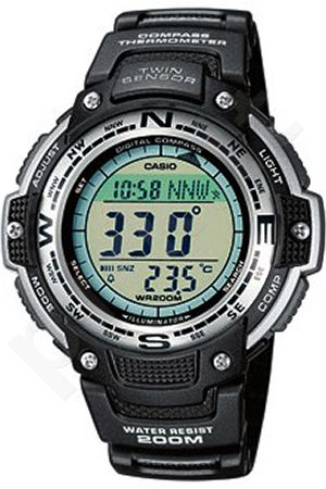 Laikrodis CASIO SGW-100-1V Illuminator. Digital Compass. World time 29 zones 5 daily s Snooze Hourly Time Full auto-calendar WR 200mt **ORIGINAL BOX**