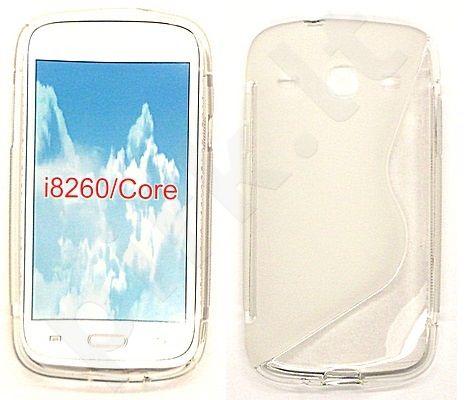 Samsung Galaxy Core dėklas SILICON Forever baltas permatomas